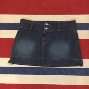 Jordache Jean mini skirt Low Rise Stretch SZ 13/14